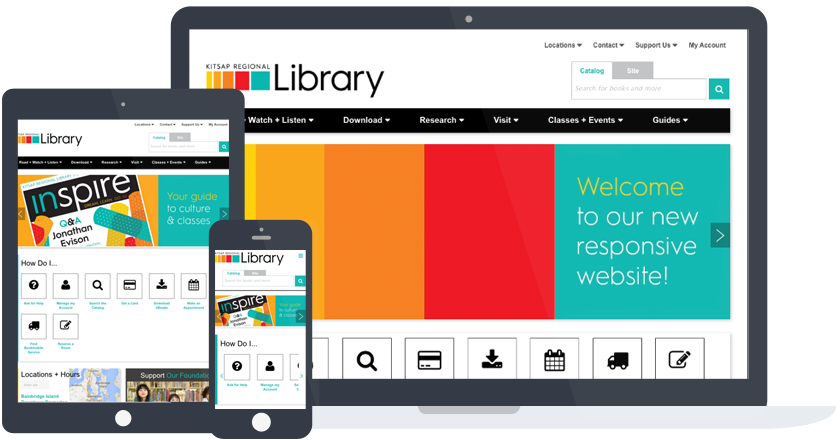Kitsap Regional Library Screenshot